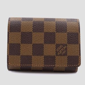 Preowned Louis Vuitton Damier Ebene Card Case